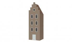 Шкаф-домик Амстердам 1, имбирь
