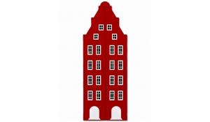 Шкаф-домик двустворчатый Амстердам 1XL, красный чили