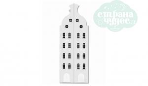 Шкаф-домик двустворчатый Амстердам 2XL, белый