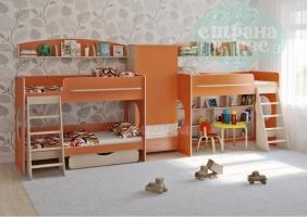 Комната для трех детей Легенда 25.4, оранжевая