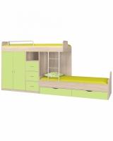 Двухъярусная кровать ФМ Дельта 18.04.02, салатовый