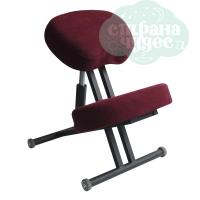 Стул коленный Олимп 1, толстые подушки, бордовый