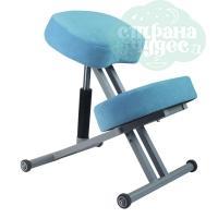 Стул коленный Олимп 1, толстые подушки, голубой