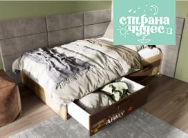 Кровать Klюkva Junior Military BT01 с 2 ящиками с подъемным механизмом