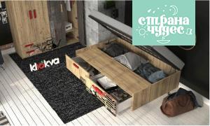 Кровать Klюkva Junior Retro BT01 с 2 ящиками с подъемным механизмом