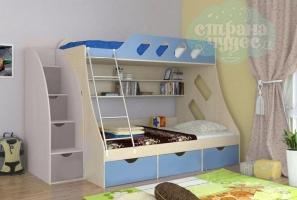 Кровать двухъярусная ФМ Дельта 20.01 голубая