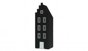 Шкаф-домик Амстердам 1, черный