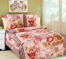 Комплект постельного белья Бамбино Плюшевые мишки-1, 1,5 сп.