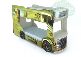 Кровать-автобус Vivera бежевый