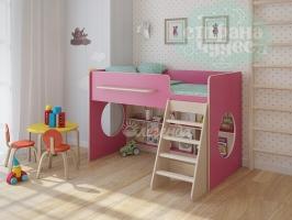 Кровать-чердак Легенда 22.1, розовый
