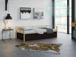 Кровать Арга, бежевая-венге