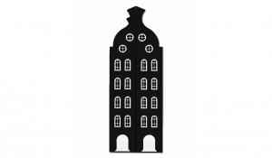 Шкаф-домик двустворчатый Амстердам 2XL, черный
