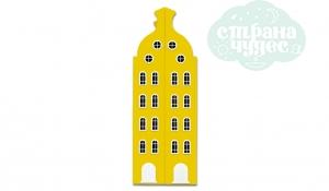 Шкаф-домик двустворчатый Амстердам 2XL, желтый