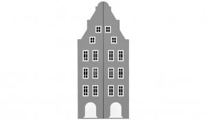 Шкаф-домик двустворчатый Амстердам 1, серый