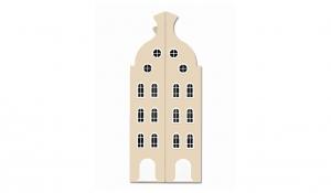 Шкаф-домик двустворчатый Амстердам 2, кремовый