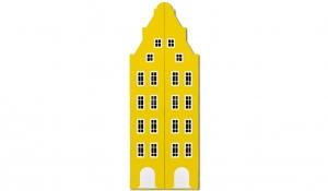 Шкаф-домик двустворчатый Амстердам 1XL, желтый