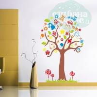 """Наклейка на стены виниловая """"Дерево игрушек"""""""