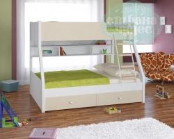 Кровать двухъярусная Golden Kids 3, белый-дуб сонома