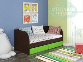 Кровать детская Golden Kids 7, венге-зеленый