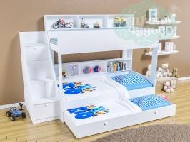 Трёхъярусная кровать Golden Kids 10.1, белая