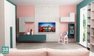 "Комната 38 попугаев ""Ньютон"", розовый+бензин"