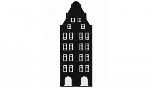 Шкаф-домик двустворчатый Амстердам 1XL, черный