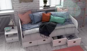 Кровать-диван Klukva Calypso с 4 ящиками