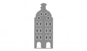 Шкаф-домик двустворчатый Амстердам 2, серый