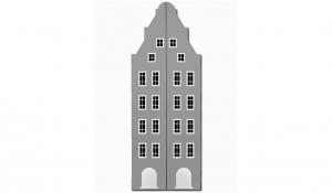 Шкаф-домик двустворчатый Амстердам 1XL, серый