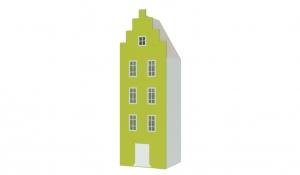Шкаф-домик Амстердам 1, лайм