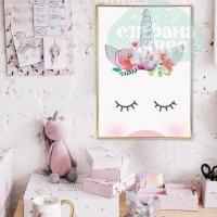 Постер интерьерный «Единорог» А3