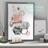 Постер интерьерный «Будь собой» А3