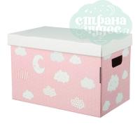 Картонная коробка для игрушек «Сладкие мечты» 37х22х25 см