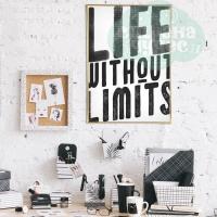 Постер интерьерный «Живи без границ» А3