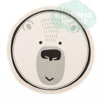 Ковер в детскую Медведь, D60 см