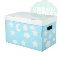 Картонная коробка для игрушек «Любимые игрушки» 37х22х25 см