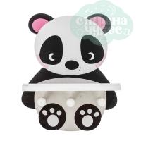 Полка детская с крючками Панда