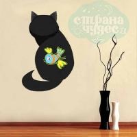 Наклейка для рисования мелом «Кошка», 30 х 40 см