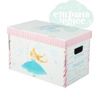 Картонная коробка для игрушек «История принцессы» 37х22х25 см