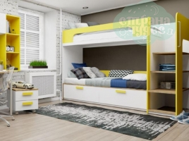 Кровать двухъярусная Klюkva Junior BR 01 Солнечный свет