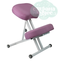 Стул коленный Олимп 1, толстые подушки, розовый