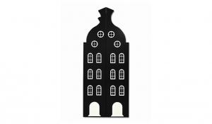 Шкаф-домик двустворчатый Амстердам 2, черный