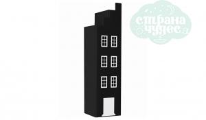 Шкаф-домик Амстердам концевой, черный