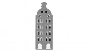 Шкаф-домик двустворчатый Амстердам 2XL, серый