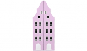 Шкаф-домик двустворчатый Амстердам 1, роза