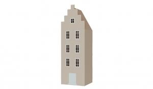 Шкаф-домик Амстердам 1, кремовый