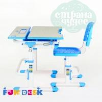Парта-трансформер со стулом FunDesk Lavoro голубая
