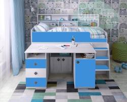 Кровать-чердак Ярофф Малыш-5, винтерберг - синий