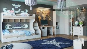 Комната детская ТриЯ Ривьера, вариант 1