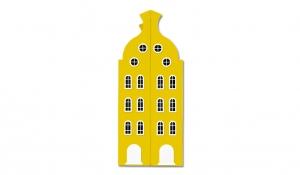 Шкаф-домик двустворчатый Амстердам 2, желтый